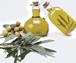 сосуд с оливковым маслом